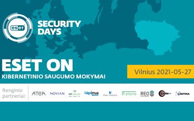 Kibernetinio saugumo iššūkiams įveikti – ESET Lietuva mokymai IT specialistams